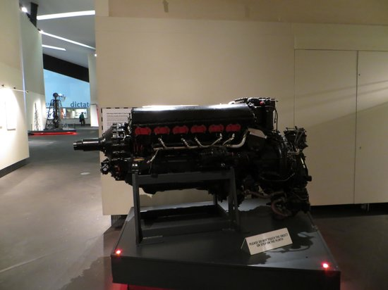 Imperial War Museum North: Rolls-Royce Merlin Mark 73 aero-engine.....built by Rolls-Royce Derby in June 1944.....was consi