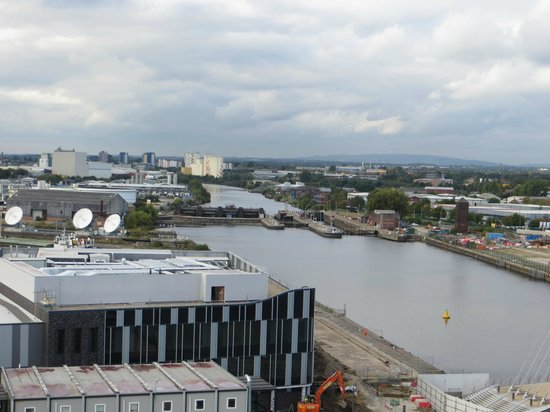 Manchester Ship Canal : a photo from the tower of Imperial War Museum