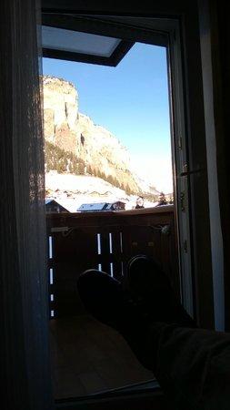 Hotel Serena: vista dal letto della mia camera
