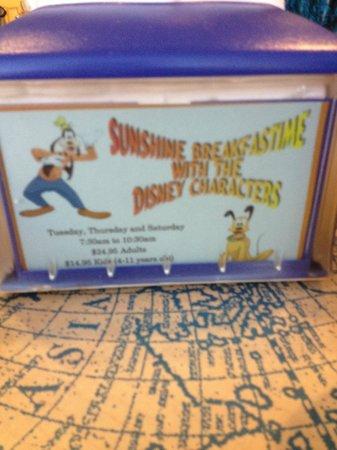 Wyndham Lake Buena Vista Disney Springs Resort Area: Desayuno con personajes de Disney (con costo)