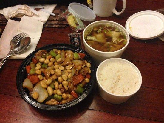 98 Super Panda : Kung Pao Chicken with Wonton Soup