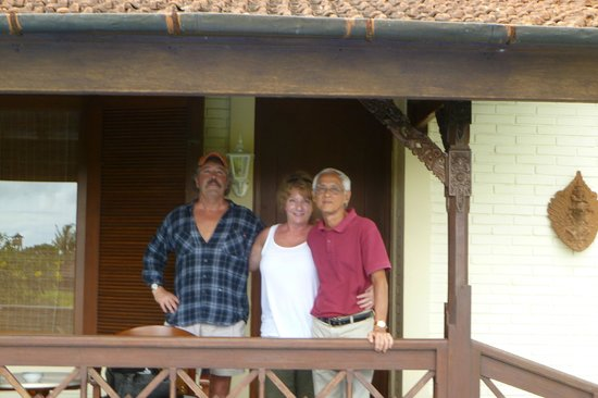 Villa Chempaka: Us and owner