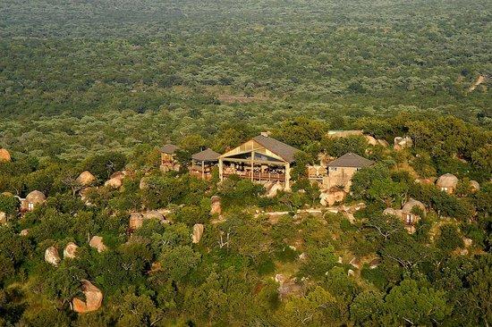 Kwa Madwala Private Game Reserve: Aerial view of Manyatta Rock Camp
