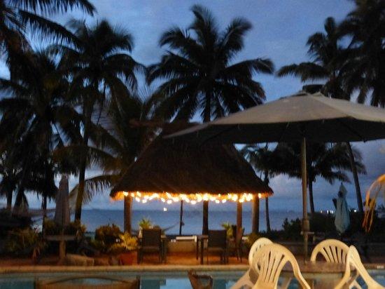 Aquarius On The Beach: night time view