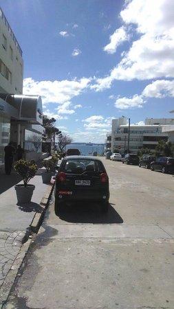 San Fernando: Rua em frente ao hotel...vista maravilhosa... Ótima localização...