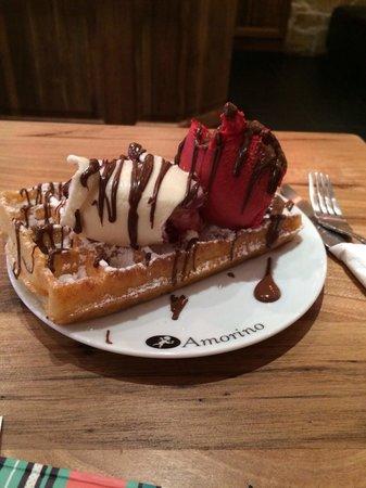 Amorino Baixa : Waffle com gelado