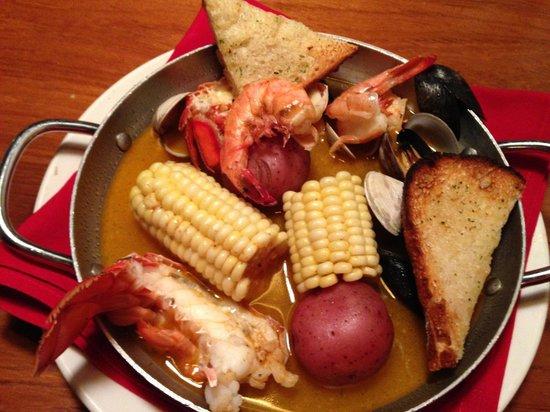 The Fish Market: East Coast Bake lobster, mussel, claim, shrimp
