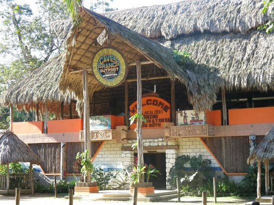 Cave Tubing with Vitalino Reyes: One of the buildings at the park