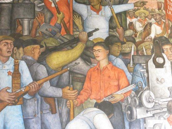 Murales de Diego Rivera en la Secretaría de Educacion Publica: frida