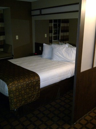Microtel Inn & Suites by Wyndham Harrisonburg: Divider wall and bed