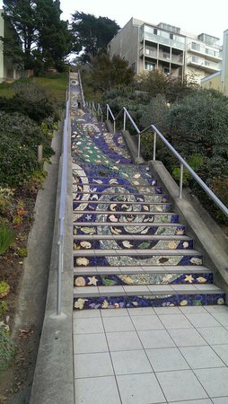 San Francisco, Californien: Mosaic steps