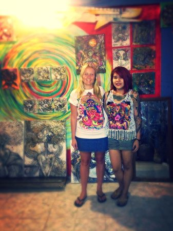 Kata Beach, Thailand: Amazing hand painted t-shirt done by Mr Pan's extremely talented wife Bow :)