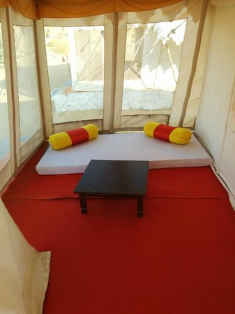 Prince Desert Camp: Sitting Area within tent but outside bedroom