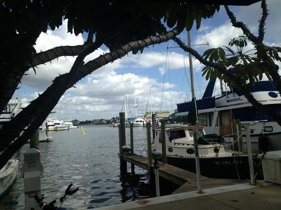 The Dock at Crayton Cove : view from our table.