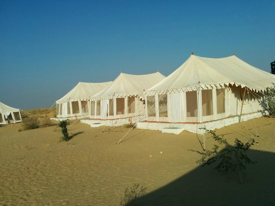 Prince Desert Camp: Tents from Outside