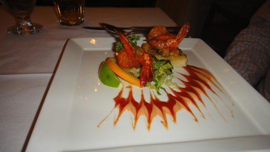 Sandals Royal Bahamian Spa Resort & Offshore Island: Shrimp bruschetta at crystal