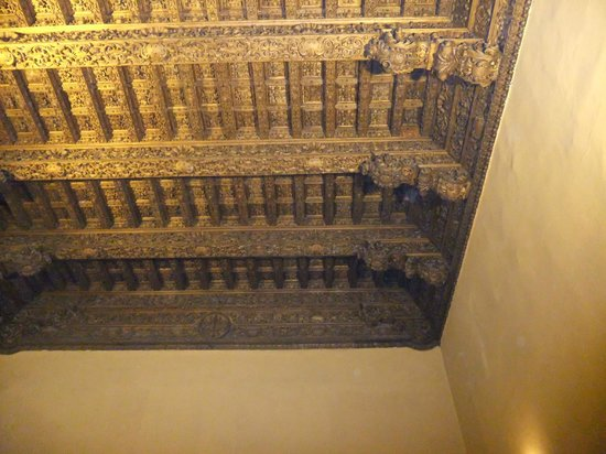 Gorgeous carved roof - Museum of the Inquisition