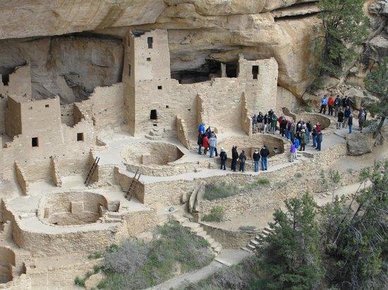 Cliff Palace : A large tour group