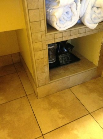 Fairfield Inn & Suites Key West: Cubby for storage. Love that the room and counter is tiled.