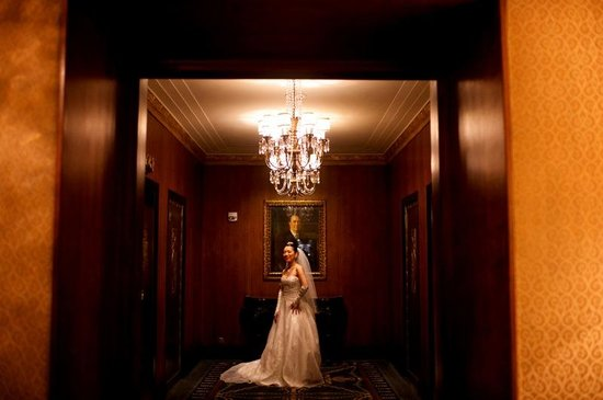 Waldorf Astoria New York: My bride at the private elevator lobby of the Waldorf Towers section of the hotel