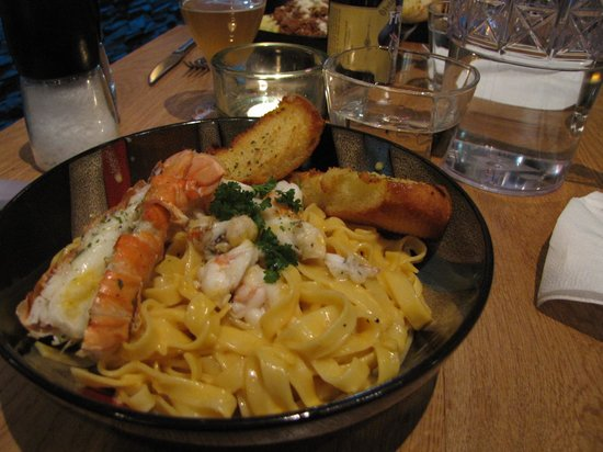 Scandinavian: Pasta with Lobster tail