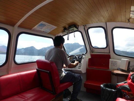 """Puyuhuapi Lodge & Spa : La """"Dorita""""  una de la embarcaciones que transporta pasajeros al hotel"""