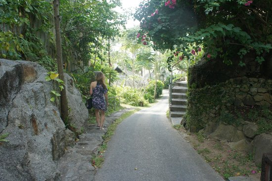 Kamalaya Koh Samui: Steep Hills but great exercise