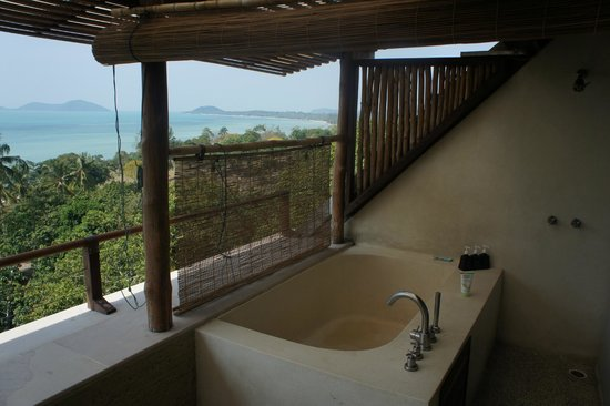 Kamalaya Koh Samui: Outdoor Bathroom - Sea View Suite