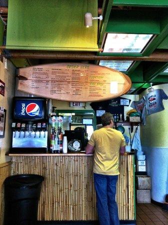 """Coconut's Fish Cafe: Menu """"board"""""""