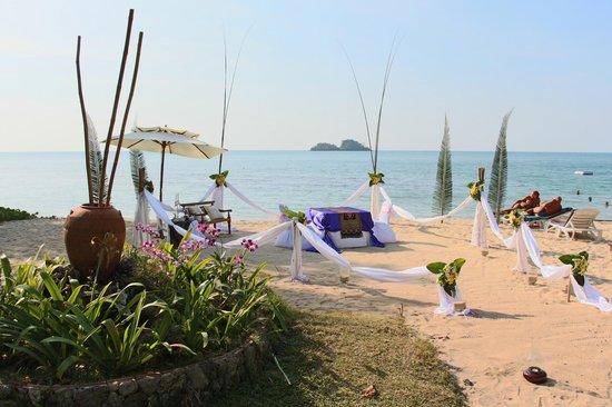 Koh Chang Cliff Beach Resort: Romantic dinner