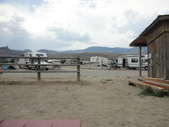 "Yellowstone Valley Inn: The fence separates the RV's from the ""tenting area"""