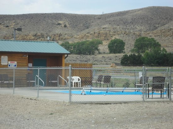 "Yellowstone Valley Inn : Pool located beside ""tenting area"""