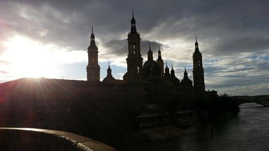 Basilica de Nuestra Senora del Pilar: The Basilica as the sun begins to set.