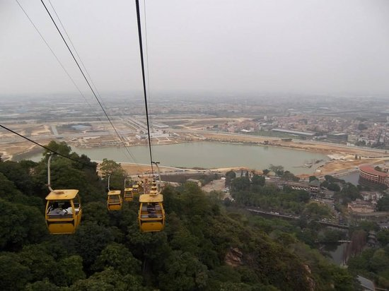 Xiqiao Mountain National Forest Park: view from the cable cars