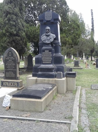 Heroes' Acre Church Street Cemetery: Paul Kruger's grave dominates the surround cemetery and is to find.
