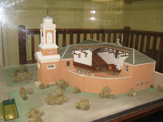 The Tench (Penitentiary Chapel Historic Site) : model of the original design, in one of the converted courtrooms