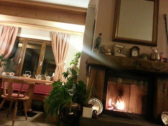 Hotel Alpi & Golf: Il meraviglioso camino nella sala comune