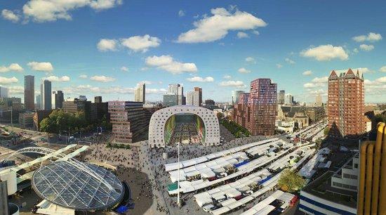 Rotterdam, Nederland: Blaak markt