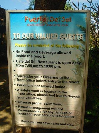 Puerto Del Sol Beach Resort: beach area