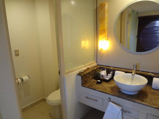 Secrets Aura Cozumel: Main bathroom room 1234 (solarium suite)