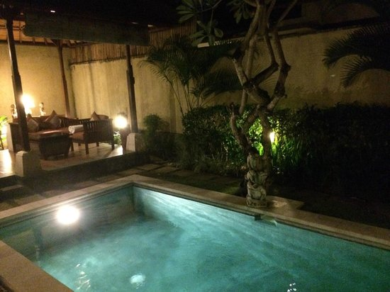 The Sanyas Suite Seminyak: Night view of pool view