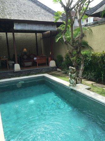 The Sanyas Suite Seminyak : Day view of pool
