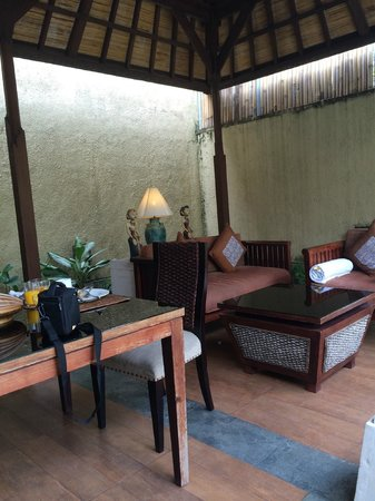 The Sanyas Suite Seminyak: Day view of dining area
