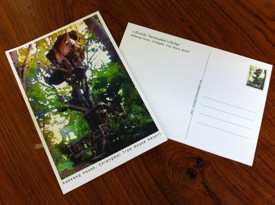Rabeang Pasak Tree House Resort: Postcard