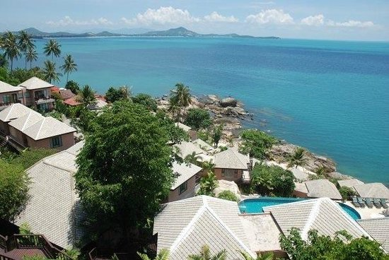 Merit Wellness & Mind Retreat Resort Samui: view from the cliff view