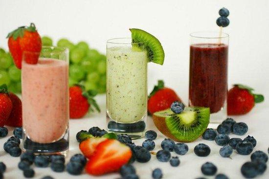 Zest: Selection of Smoothies.