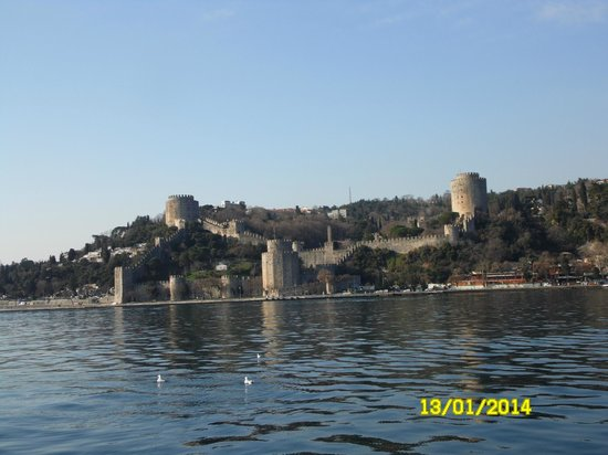 Bosphorus Strait: крепость вид с палубы