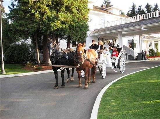 Crown Mansion Boutique Hotel & Villas: Horse Drawn Carriage at the Crown Mansion