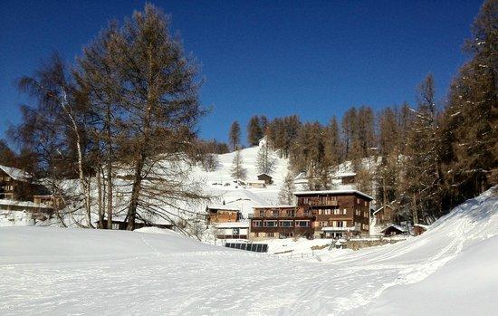 Berghotel Sternahaus: Das Sternahaus im Winter