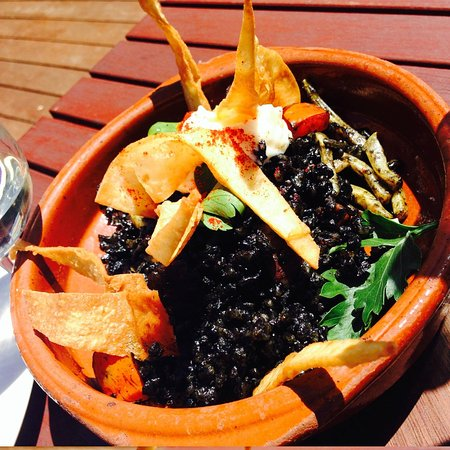 Hay Shed Hill Wines: Squid Ink Risotto
